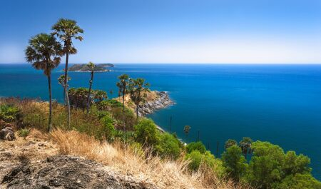 Beautiful scenery of Phromthep Cape Phuket Thailand