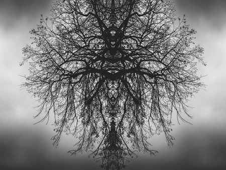 Pattern of demon-like tree