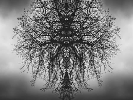 flipped: Pattern of demon-like tree