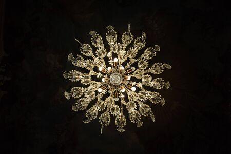 crystal chandelier: bottom view of chandelier