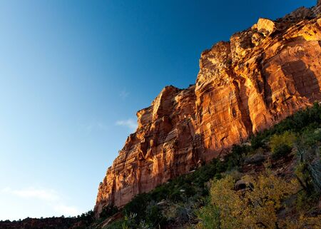 zion: Canyon at sunset in Zion national park