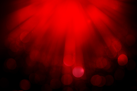 ray of lights: Dark red ray lights bokeh glitter defocused abstract background Stock Photo