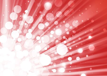 ray of lights: Red ray lights bokeh glitter defocused abstract background Stock Photo