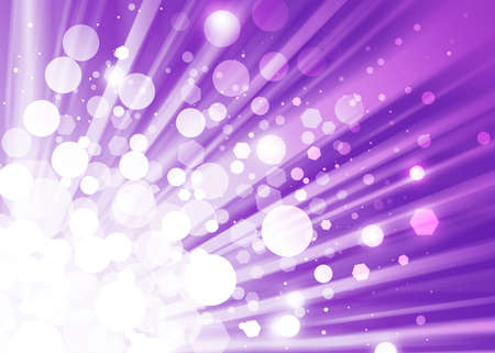 ray of lights: Purple ray lights bokeh glitter defocused abstract background