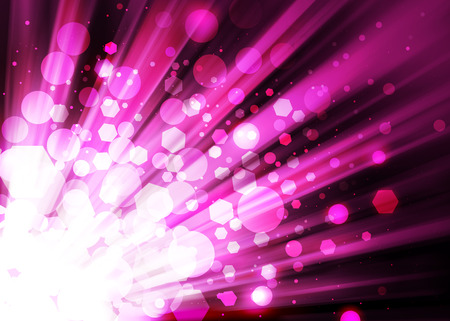 ray of lights: Dark Pink ray lights bokeh glitter defocused abstract background