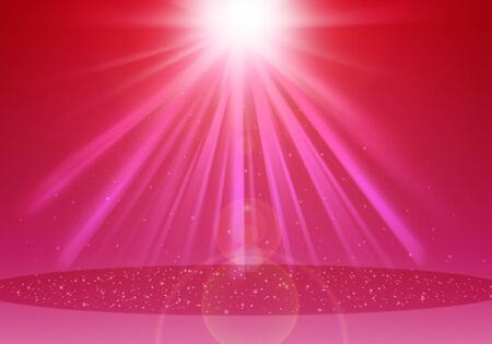 ray of lights: Pink ray lights  glitter defocused abstract background Stock Photo