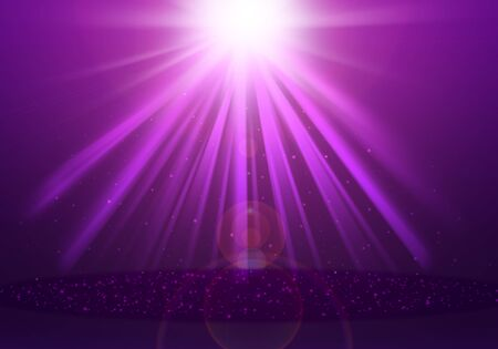 ray of lights: Purple ray lights glitter defocused abstract background Stock Photo