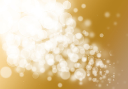 color image: Gold bokeh glitter defocused lights abstract background