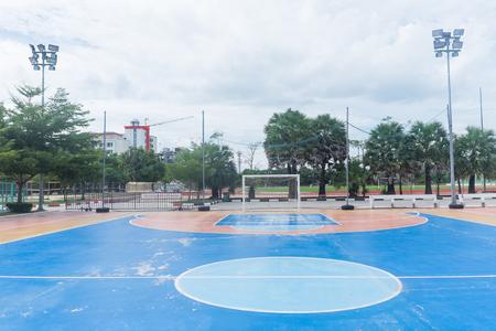 futsal: Futsal field in a public outdoor park.