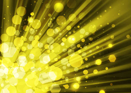 ray of lights: Gold ray lights bokeh glitter defocused abstract background Stock Photo