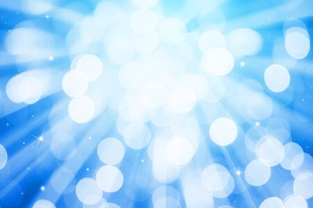 blue ray: Blue ray lights bokeh glitter defocused abstract background