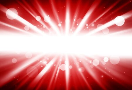 ray of lights: Red center ray lights bokeh glitter defocused abstract background Stock Photo