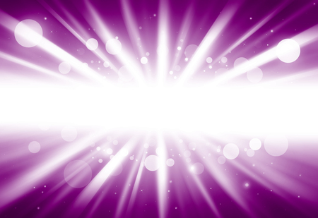 ray of lights: Purple center ray lights bokeh glitter defocused abstract background Stock Photo