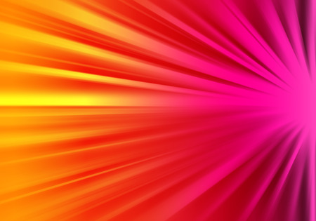 ray of lights: Orange and pink ray lights technology defocused abstract background.