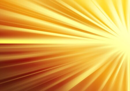 ray of lights: Gold ray lights technology defocused abstract background. Stock Photo