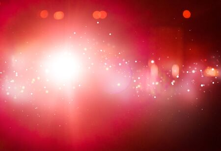 ray of lights: Red ray lights bokeh glitter defocused  abstract background