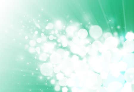 flicker: Green ray  bokeh glitter defocused lights abstract background