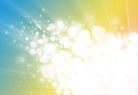 flicker: Gold and blue  ray  bokeh glitter defocused lights abstract background