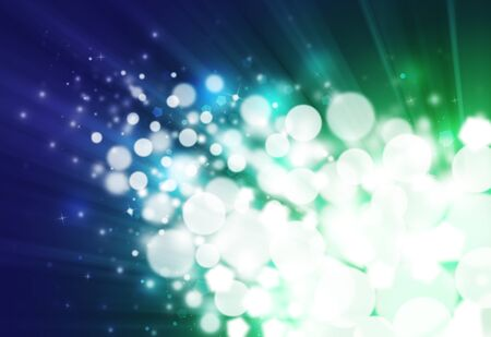 flicker: Dark blue and green ray  bokeh glitter defocused lights abstract background