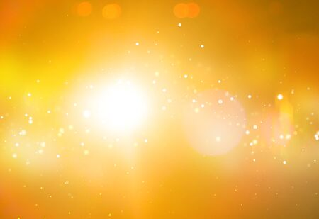 ray of lights: Gold ray lights bokeh glitter defocused  abstract background