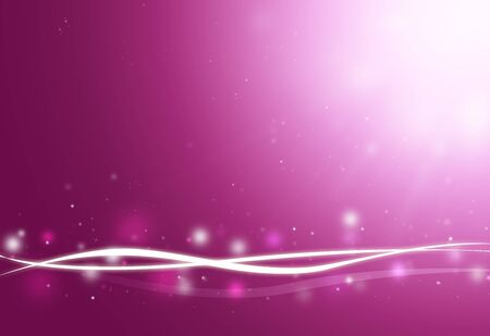 digitally generated image: Purple wave and glitter sparkle defocused rays lights bokeh abstract background.