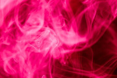 fervent: Pink smoke abstract dark background Stock Photo