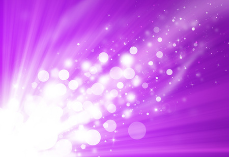 purple: Purple glitter sparkle defocused rays lights bokeh beautiful abstract background.