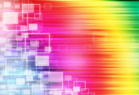 ray of lights: Colorful ray lights technology defocused square abstract background. Stock Photo