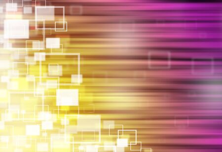 ray of lights: Gold and puple ray lights technology defocused square abstract background.