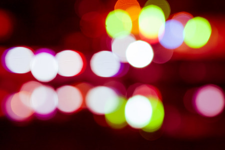 city lights: Night in city ray lights bokeh glitter defocused abstract background vintage color tone.