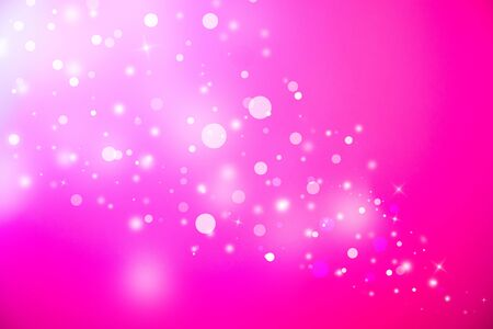 flickering: Pink glitter sparkles defocused rays lights bokeh abstract christmas background. Stock Photo
