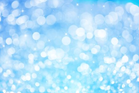 blue ray: Blue ray bokeh glitter defocused lights abstract background.