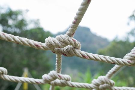 bobina: Muchos Bobina de la cuerda con el fondo de la naturaleza. Foto de archivo