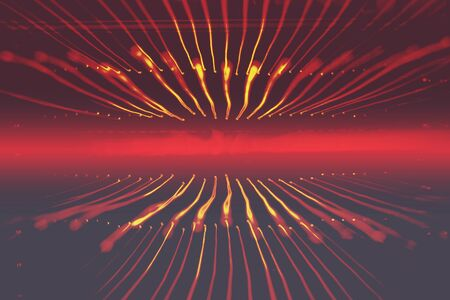 emanate: Red sound wave rays light beautiful abstract  background texture.