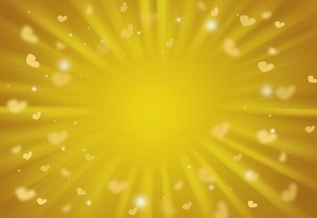 burnish: Heart valentine day glitter sparkles defocused rays lights bokeh abstract background. Stock Photo