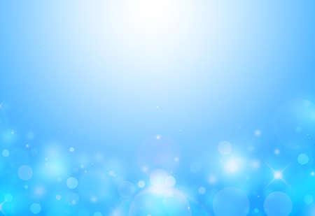 below: Soft Blue sparkles below glitter rays lights bokeh abstract backgroundtexture.