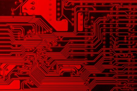 Red circuit board electronic for backgroundtexture.