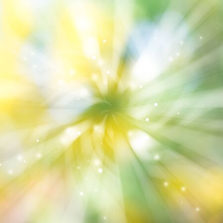 Green and Yellow sparkles glitter rays lights radial bokeh  abstract backgroundtexture.