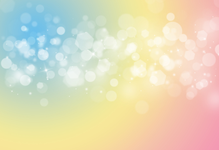 Pastel sparkles glitter and rays lights bokeh abstract backgroundtexture.