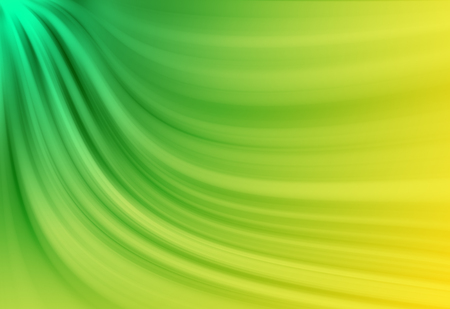 Green and Yellow twirl and  radial rays twinkled lights beautiful abstract background.