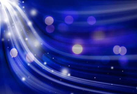 Blue sparkle twirl and glitter radial rays twinkled lights bokeh beautiful abstract background.