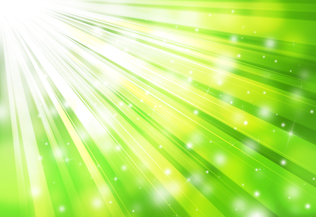 Green sparkles rays lights  glitter bokeh radial abstract backgroundtexture. Imagens