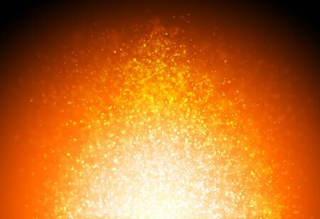 Dark Gold glitter sparkles rays lights bokeh Festive Christmas Elegant abstract background.