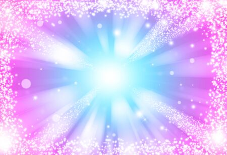 Blue and Pink glitter sparkles rays lights bokeh Festive Elegant abstract background. Фото со стока