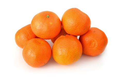 Ein paar Clementinen auf weißem Hintergrund Standard-Bild - 17209961