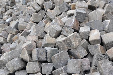 Ein Haufen von grauen Pflastersteinen Standard-Bild - 17209798