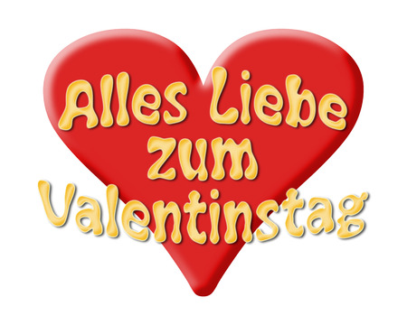 Viel Liebe für Valentine s Day mit Herz Standard-Bild - 27361325