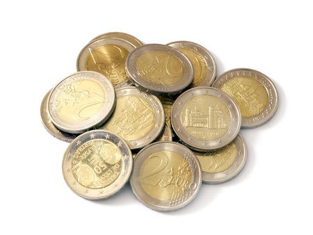 Ein kleiner Haufen von Euro-Münzen
