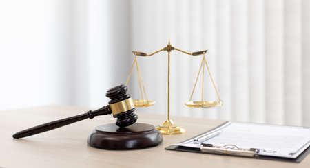 Background images, Hammer referees and Legal documents of justice, Legal scales and legal accuracy concept.
