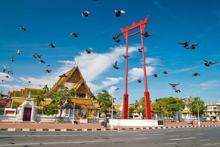 Freedom, Giant Swing, Sutat Temple, Bangkok, Thailand